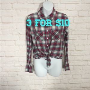 Aeropostale button up flannel Large